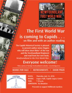 Poster Cupids_Historical_Society-Higgins July 14, 2016